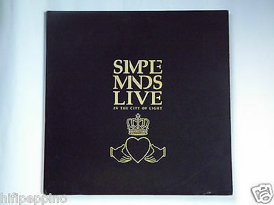 "Simple Minds ""live In The City Of Light"" Vinile  Lp Doppio 1987"
