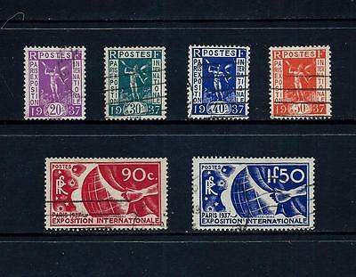 FRANCE _ 1936 'PARIS EXPOSITION' SET of 6 _ used ____(466)