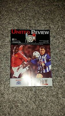 Manchester United vs Coventry City programme 2000
