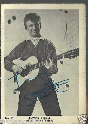 Master Vending Gum Card Tommy Steele - Personal signed message on rear Ladywood
