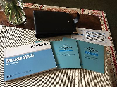 Mazda MX5 Owners Manual & Wallet