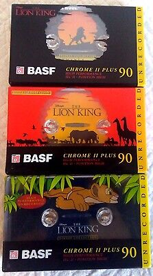 CASSETTES BLANK SEALED - 1 pack BASF 90 (type II) [1995] DISNEY - THE LION KING