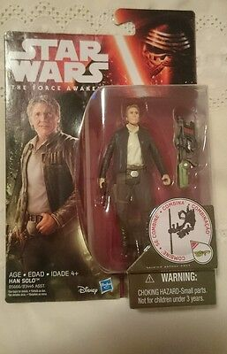 Star Wars The Force Awakens Han Solo Action Figure New