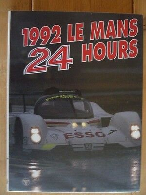 *RARE BOOK* 1992 Le Mans 24 Hours Year Book *Sports Car Motor Racing; Peugeot ++