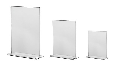 Menu Holder Display Stand Double Sided Acrylic Leaflet Poster Stand A4 A5 A6