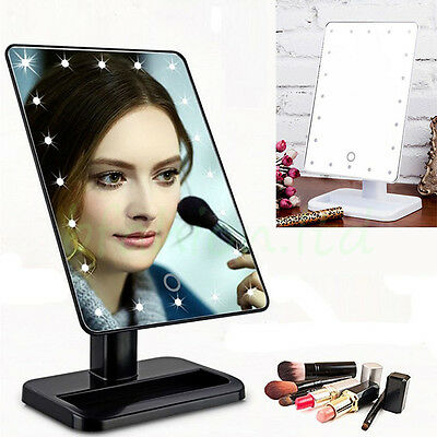 Touch LED Illuminated Bathroom Make Up Cosmetic Vanity Table Makeup Stand Mirror