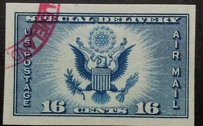 U.s.a. 1934. Scott#771.16C.imperf. Air Post Special Delivery. Vfu.
