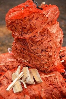 Kindling firewood netted bags x10 (4kg bag) FAST FREE DELIVERY cheapest online!