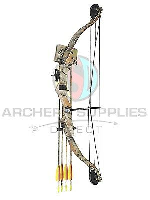 ASD Typhoon Archery Youth Camo Compound Bow With 8 Arrows + Accessories