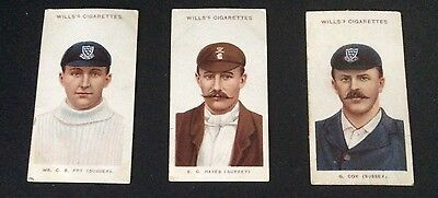 Wills Cricketers 1908 (small s) 48, 49 and 50