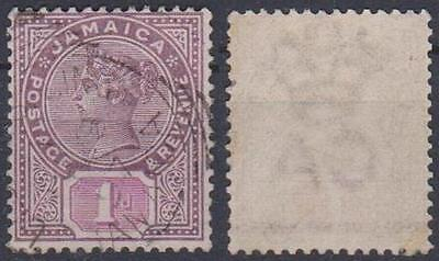 JAMAICA----- QV,   1d,   Used