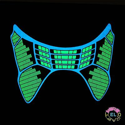 Glowing Equalizer Mask - Carnival festival - Sound Activated - With Driver