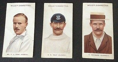 Wills Cricketers 1908 (small s) 41, 43 and 46