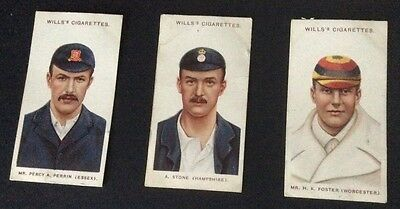 Wills Cricketers 1908 (small s) 44, 45 and 47