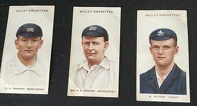 Wills Cricketers 1908 (small s) 2, 10 and 24