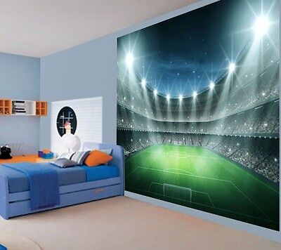 Cool Football stadium night floodlit Kids Boys wallpaper wall mural (32457955)