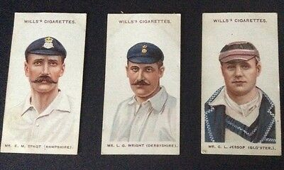 Wills Cricketers 1908 (small s) 19, 20 and 26