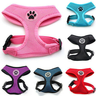 Pet Harness Collar Leash Strap Mesh Dog Cat Hot Adjustable Vest Puppy