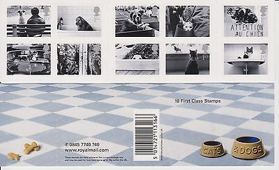 GB MNH Barcode Stamp Booklet 2001 Cats & Dogs SG 2187-2196
