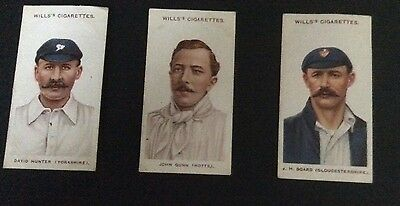 Wills Cricketers 1908 (small s) 12, 13 and 14