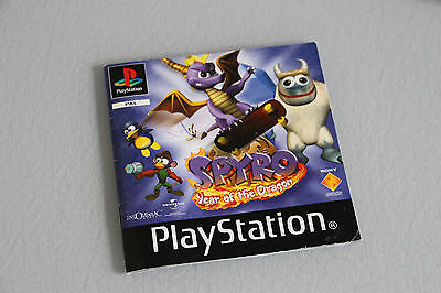 Spyro Instruction Manual/booklet For The Playstation 1/ps1, *** Free P&p.