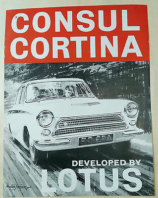 CONSUL CORTINA developed by LOTUS for FORD.  FIRST LOTUS CORTINA Sales Leaflet.