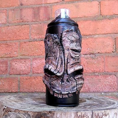 GRAFFITI SPRAY CAN SCULPTURE by Hoakser SKULL SKELETON ORIGINAL ART FATCAP COOL