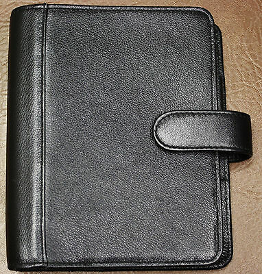 """6 - 1 1/8"""" Ring Franklin Covey Quest Planner Unstructured Leather Compact OPEN"""