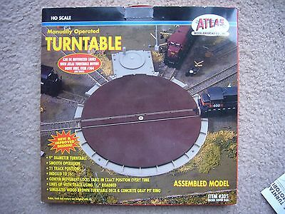 Atlas 305 HO-Scale Train Turntable Manually Operated w/ 21 Track Positions