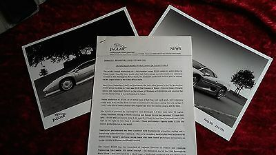 Jaguar XJ220 press release. 1991. Public debut in Tokio.