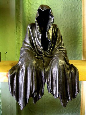 GRIM REAPER SHELF SITTER FIGURE Ornament Darkness Resides GOTHIC PAGAN OCCULT