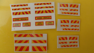 Mabex Long Vehicle/Hazard transfers/decals lorry/truck/code 3