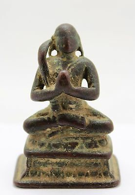 antique 10-13th C Indo Javanese / Indian bronze Hindu Deity Buddha & Naga snake