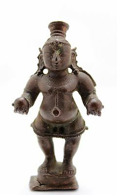 antique ca 10-13th C India / Indo Javanese bronze Hindu deity Balakrishna statue