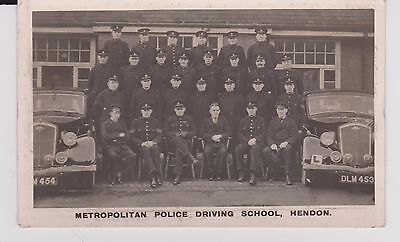 2 VINTAGE  1950's RP CARDS OF THE METROPOLITAN POLICE DRIVING SCHOOL HENDON