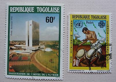 2 stamps of Togo 1981 & 1983. Used