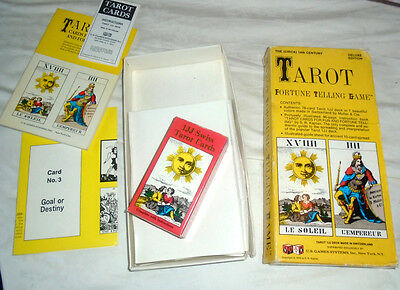 Boxed TAROT FORTUNE TELLING GAME CARDS USA Deluxe Edition