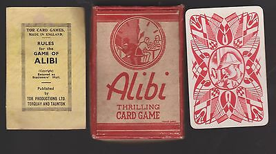 Rare Vintage Tor Card Game Of Alibi