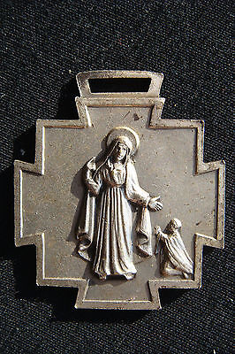 Our Lady Of Miracles Old Rare Beautiful Religious Medal Pendant