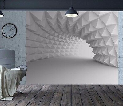 Cool 3D optical illusion arch tunnel wallpaper wall mural (44303329)