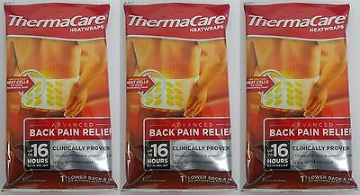 3 x ThermaCare Lower Back Heat Wrap Single Pack = 3 wrap (Heat therapy)