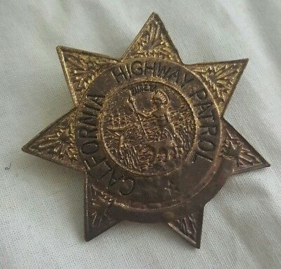 Vtg Antique California Highway Patrol Badge Pin Prop For Display