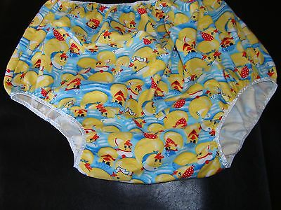 """ABDL Adult Baby """"Rubber Duckies"""" flannel diaper cover"""