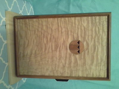 womans handcrafted wooded jewlery box