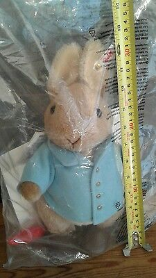 Very Rare Steiff Peter Rabbit, Still In Original Sealed Packaging, With carrot