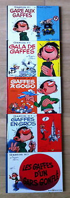 Franquin ** Gaston ** 5 Tomes ** Format A L'italienne ** 2006 ** Comme Neuf !