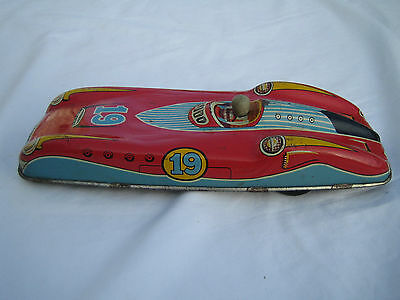 Vintage 1950's Made in Gt. Britain Tin-Plate Model Racing Car