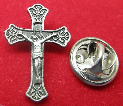 Crucifix Lapel Pin Badge Catholic Cross Brooch Holy Religious Gift New