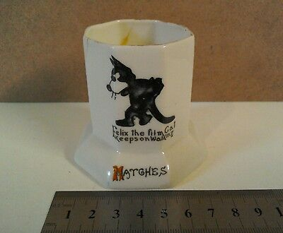 Vintage Felix the cat Pathe Eve & Everybodys Film Review  Crested Ware matches