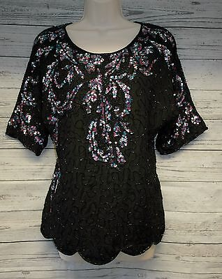Beautiful 90's Sequinned Top